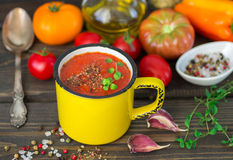 Homemade thick spicy vegetable soup Stock Photos