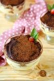 Homemade tiramisu with cocoa Stock Photo
