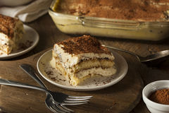 Homemade Tiramisu for Dessert Stock Images