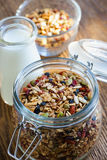 Homemade toasted granola Stock Photo