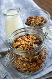 Homemade toasted granola Royalty Free Stock Photos