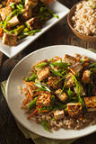 Homemade Tofu Stir Fry. With Vegetables and Rice Stock Photo