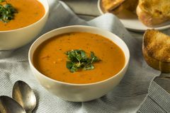 Homemade Tomato Basil Bisque Soup Royalty Free Stock Images