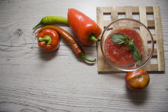 Homemade tomato sauce Stock Images