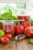 Homemade tomato sauce Stock Photo
