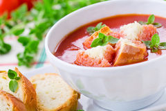 Homemade Tomato Soup Royalty Free Stock Photo