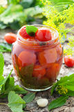 Homemade tomatoes preserves Stock Image