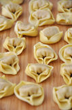 Homemade tortellini Stock Photos