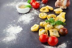 Homemade tortellini Stock Image
