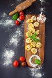 Homemade tortellini Stock Photography