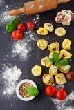 Homemade tortellini Stock Photo