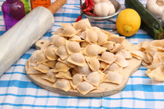 Homemade tortellini Stock Image