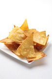 Homemade tortilla chips Stock Image