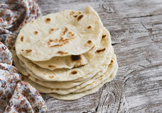 Homemade tortilla Stock Photo