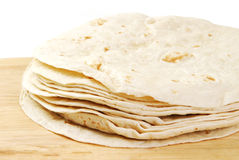Homemade tortillas Stock Images