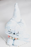 Homemade toy cat Stock Image