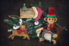 Homemade toy monkey Royalty Free Stock Images