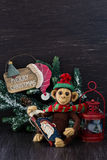 Homemade toy monkey Royalty Free Stock Photography