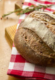 Homemade Tradition bread loaf on the kitchen table Stock Photography
