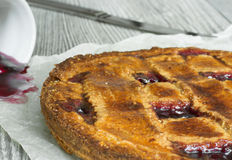 Homemade Linzer tart royalty free stock photography