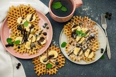 Homemade waffles. stock photography
