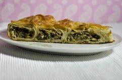 Homemade traditional bulgarian food. Banitsa stuffed with cheese Royalty Free Stock Photos