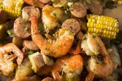 Homemade Traditional Cajun Shrimp Boil Stock Image
