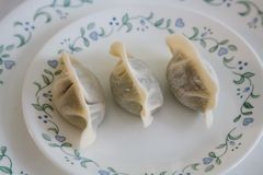 Homemade Traditional Chinese Food: Making Boiled Dumpling Stock Images