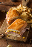 Homemade Traditional Cuban Sandwiches Stock Photography