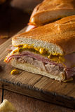 Homemade Traditional Cuban Sandwiches Stock Images