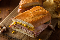 Homemade Traditional Cuban Sandwiches Royalty Free Stock Photo