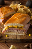 Homemade Traditional Cuban Sandwiches Royalty Free Stock Photos