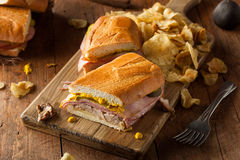 Homemade Traditional Cuban Sandwiches Royalty Free Stock Images