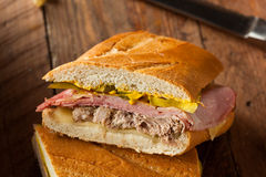 Homemade Traditional Cuban Sandwiches Stock Photo