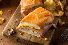 Homemade Traditional Cuban Sandwiches Royalty Free Stock Image