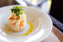 Homemade traditional Italian risotto in restaraunt Stock Images