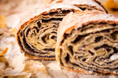 Homemade traditional poppy strudel Stock Image