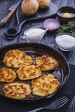Homemade Traditional potato fritters on a Background Stock Photography