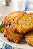 Homemade Traditional Potato Pancake Latke Royalty Free Stock Photos
