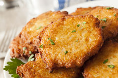 Homemade Traditional Potato Pancake Latke Stock Images