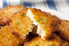 Homemade Traditional Potato Pancake Latke Stock Image