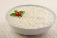 Homemade traditional rice pudding for breakfast. Stock Photography