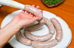 Homemade traditional sausage Stock Photography