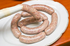Homemade traditional sausage Stock Images