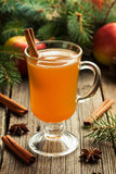 Homemade traditional winter hot apple cider with Stock Photo
