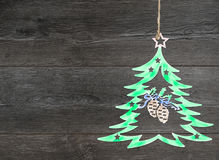 Homemade tree decoration. Royalty Free Stock Image