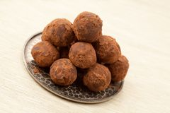Homemade truffles. Royalty Free Stock Photos