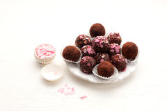 Homemade truffles candy Stock Photography