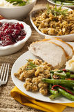Homemade Turkey Thanksgiving Dinner Royalty Free Stock Photos