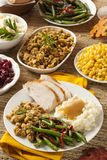 Homemade Turkey Thanksgiving Dinner Royalty Free Stock Images
